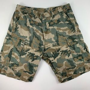 Levis Camouflage High Rise Cargo  Shorts 34